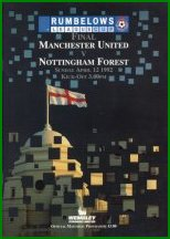 1992 LEAGUE CUP FINAL - MAN UTD v NOTTINGHAM FOREST